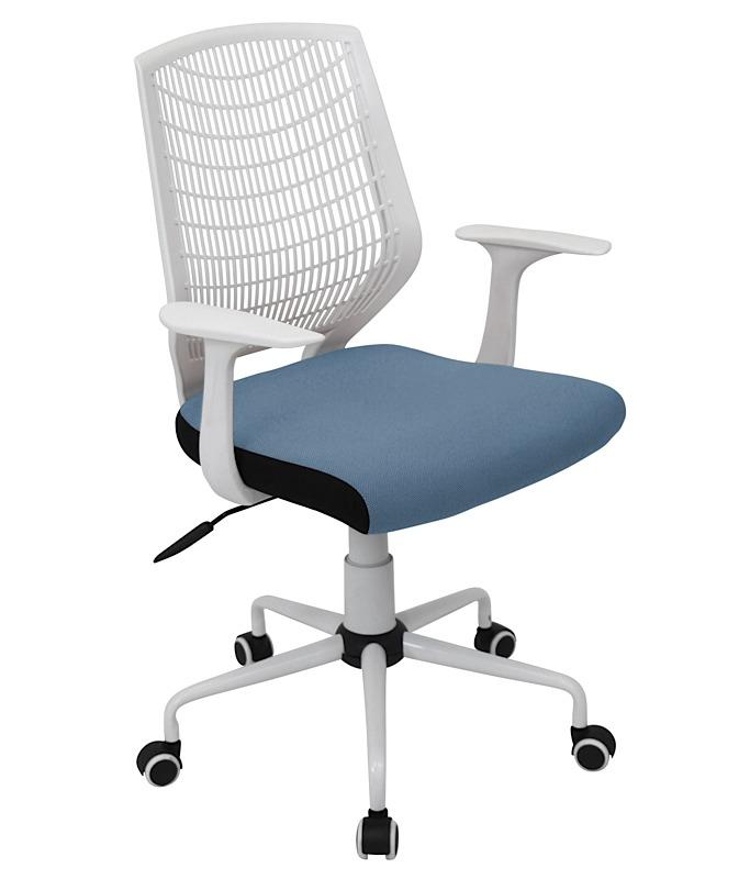 Evan fice Chair White Blue