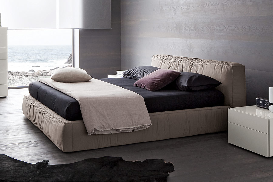 Twist Bed Queen Soft Grey