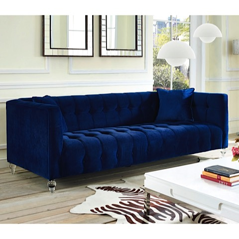 Velvet Navy Sofa Sofa Navy Velvet Rueckspiegel Org Thesofa