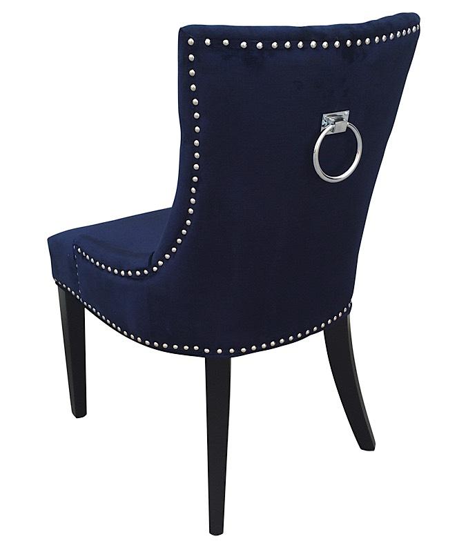 Royal dining room furniture - Uptown Dining Chair Set Of 2 Navy Velvet Modern Digs