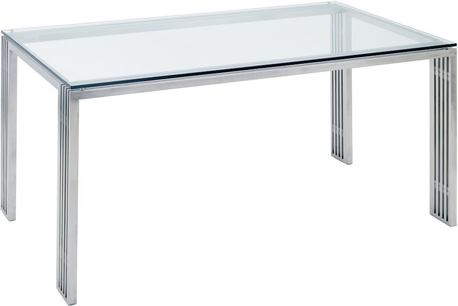 Quasi Dining Table Stainless Steel Modern Digs Furniture