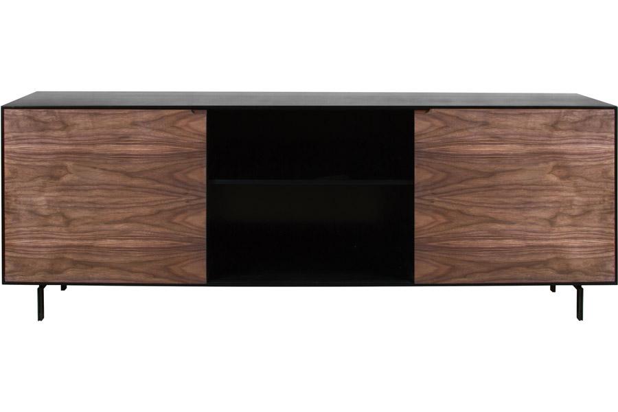 carrissa console black walnut modern digs furniture