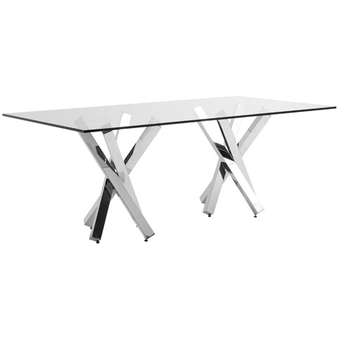 Francois dining table 94 long modern digs furniture for Long contemporary dining tables