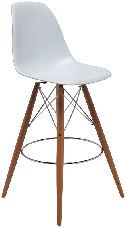 charlie bar stool white modern digs furniture