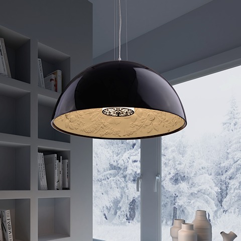 Atmosphere Ceiling Lamp Black Gold Modern Digs Furniture