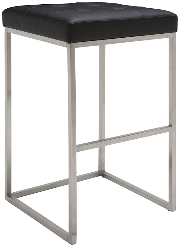 Chi Bar Stool By Nuevo Living In Black And Stainless Steel