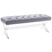Claira Lucite Bench