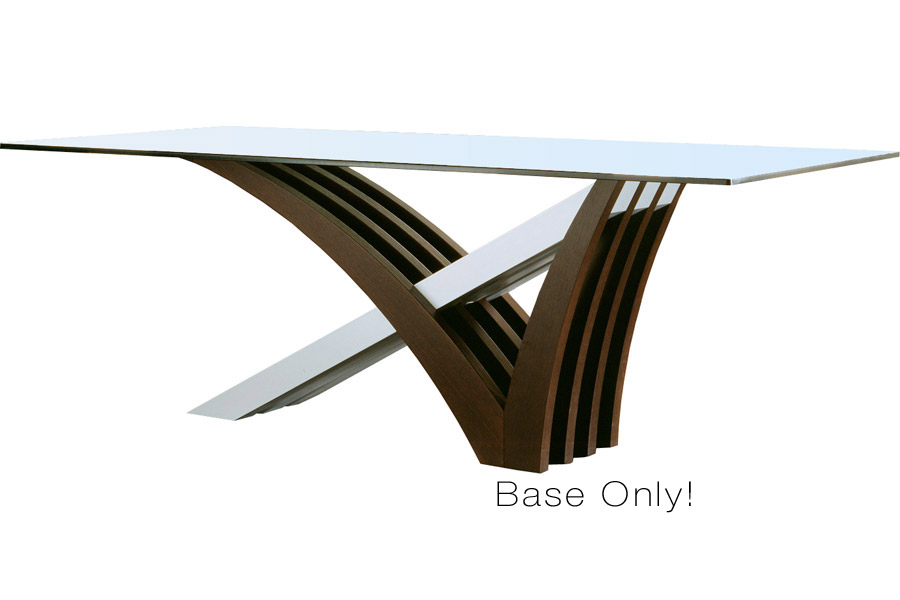 Mirage Dining Table Wenge BASE ONLY Modern Digs Furniture