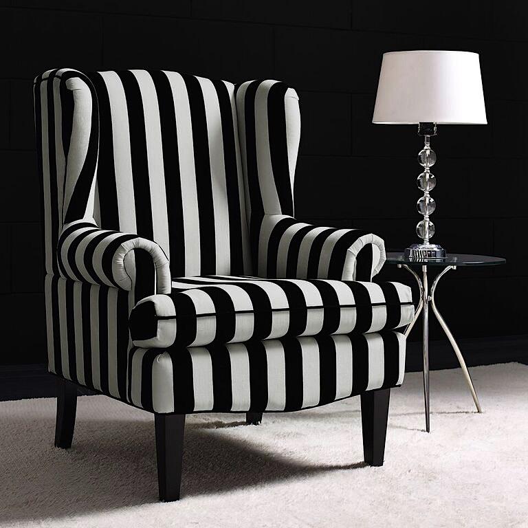 Paris Wingback Chair White Black Modern Digs Furniture