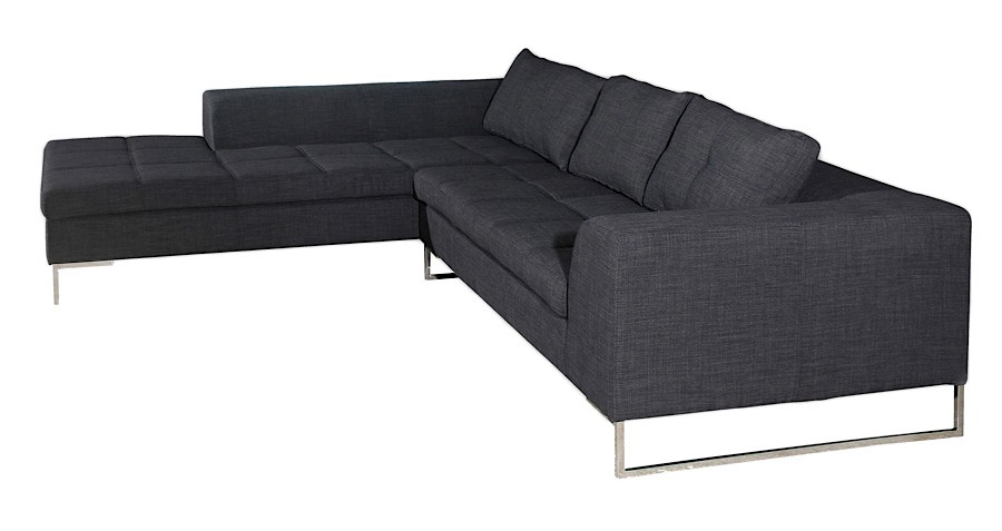 Sydney Modern Gray Sectional On Sale At Modern Digs