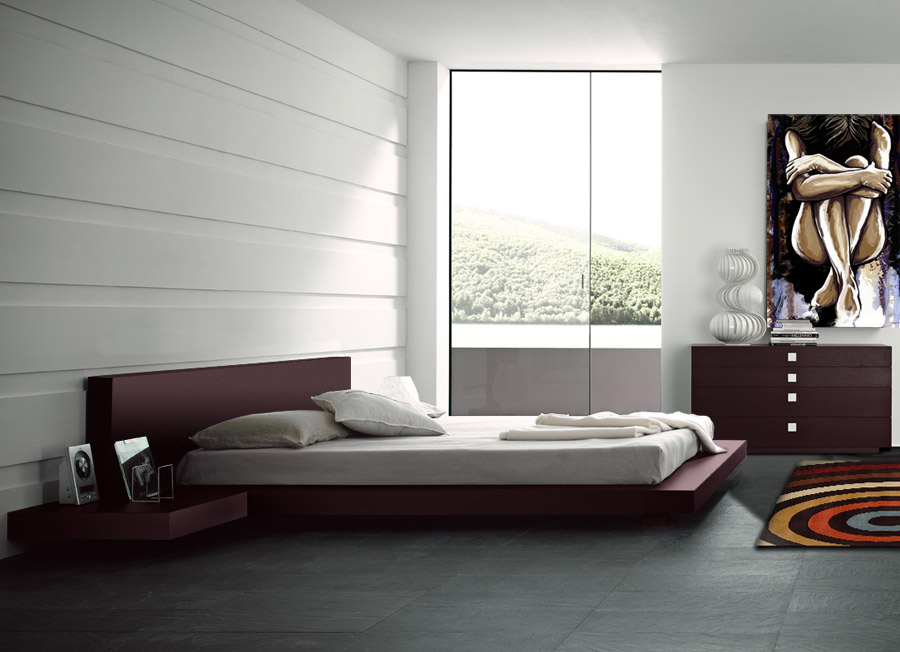 Manhattan bedroom set queen modern digs furniture for Ready to assemble bedroom furniture