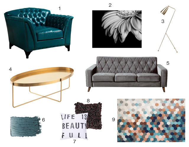 How To Create a Bold Teal Living Space