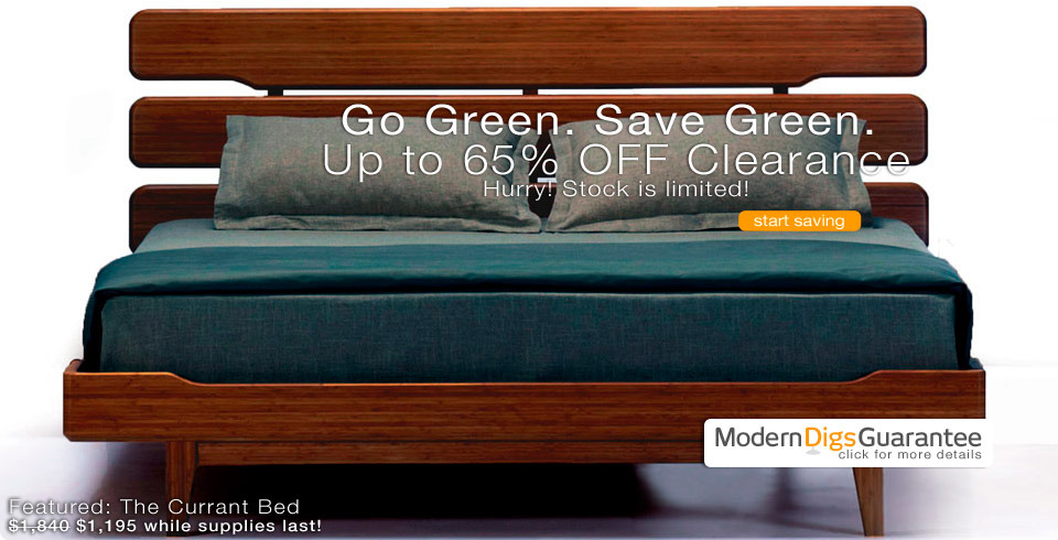 Currant Platform Bed | Clearance Bamboo