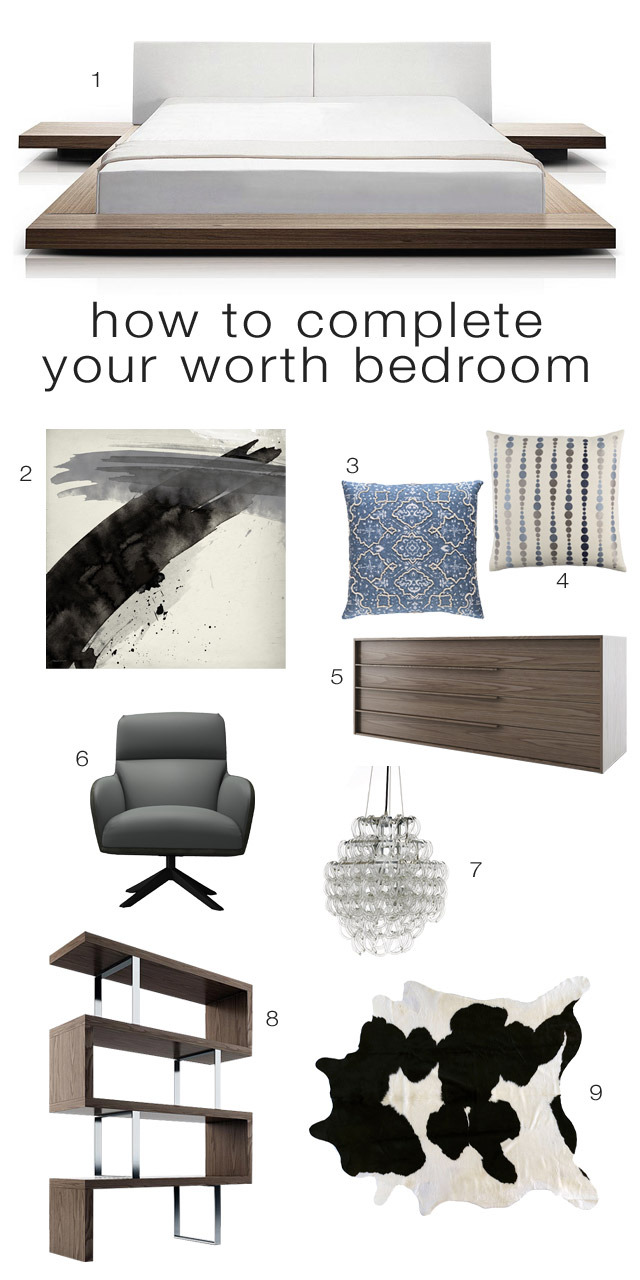 How to Complete Your Walnut Worth Bedroom Set
