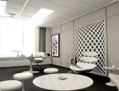 almost in direct opposition to his complex personality roger has surrounded himself with all white furniture each piece a classic representative of the art roger sterling office