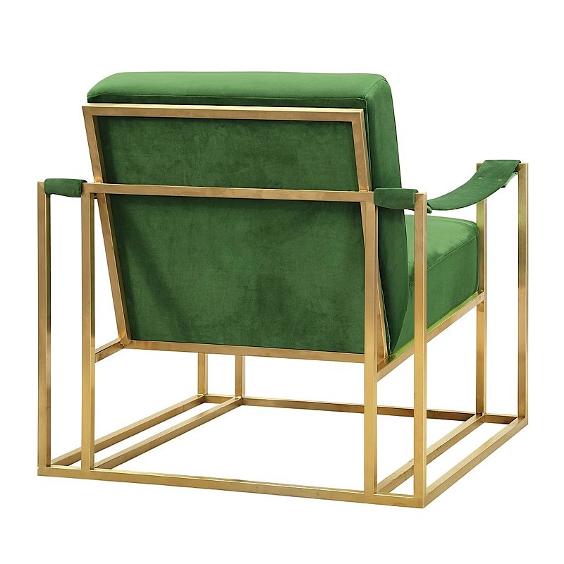 Baxter Chair Green Velvet Gold Modern Digs Furniture