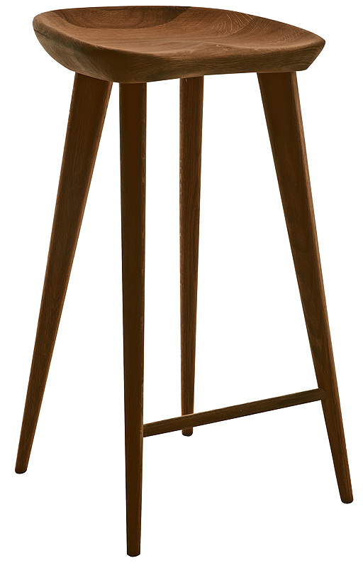 Kami Barstool Walnut Modern Digs Furniture