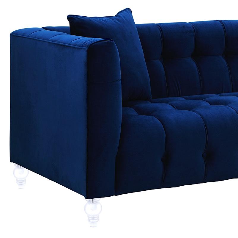 Bea Sofa Navy Blue Velvet | Modern Digs Furniture