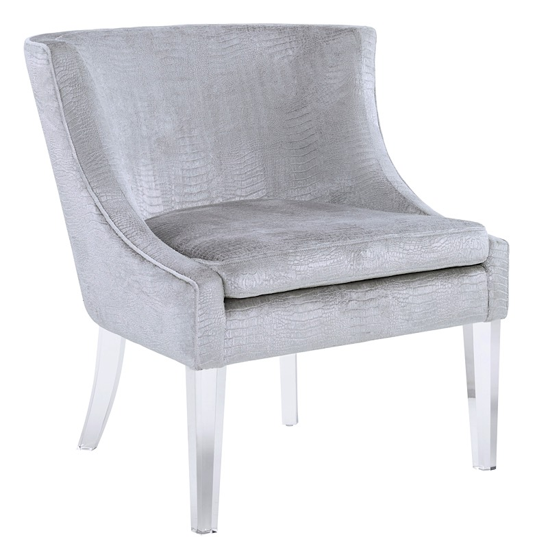 Myra Chair   Silver Croc