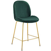 Serenity Velvet Counter Stool