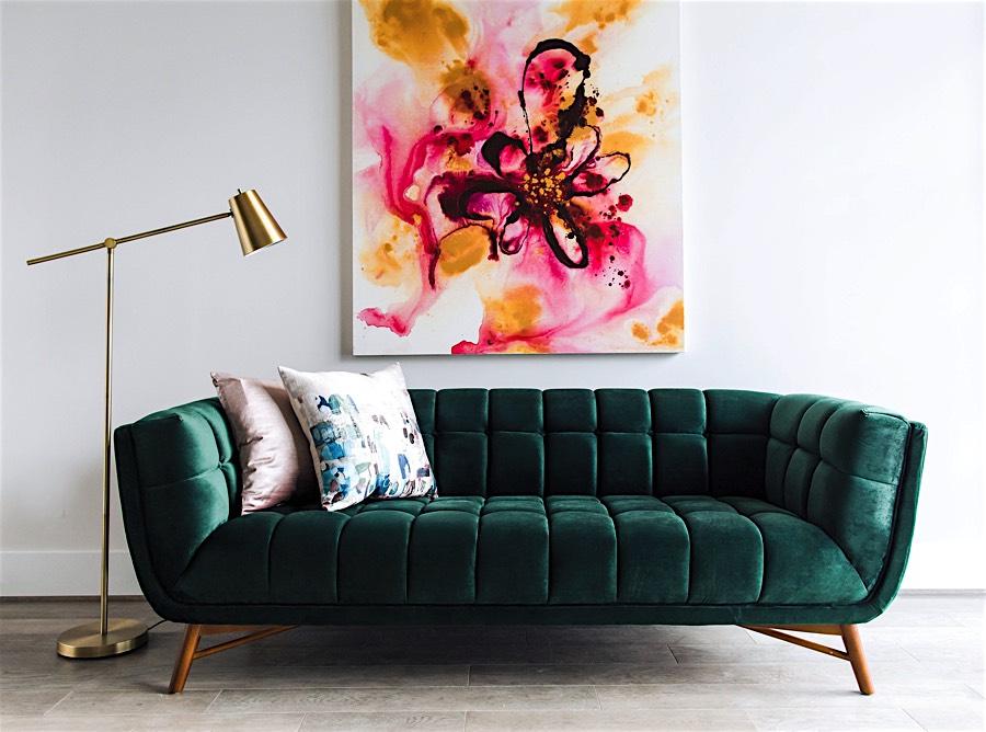 Amazing Tribeca Velvet Sofa Dark Green Creativecarmelina Interior Chair Design Creativecarmelinacom