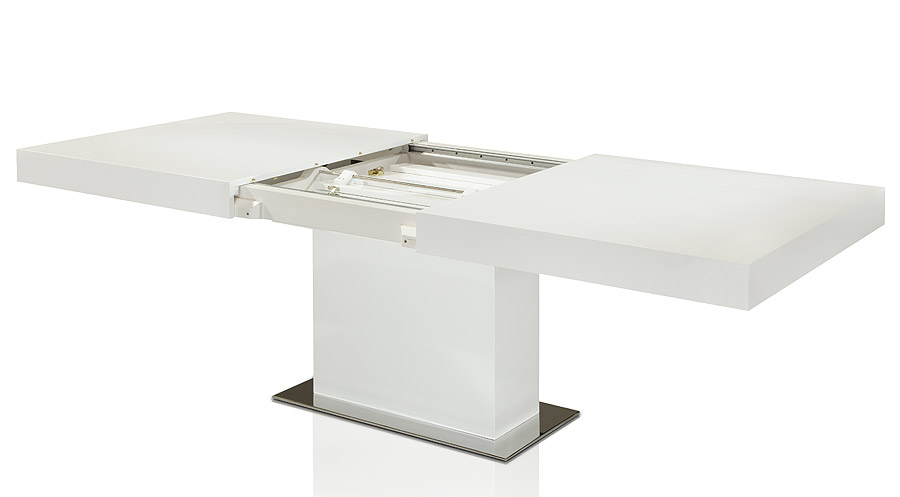 White Lacquer Astor Dining Table By Modloft Modern Digs