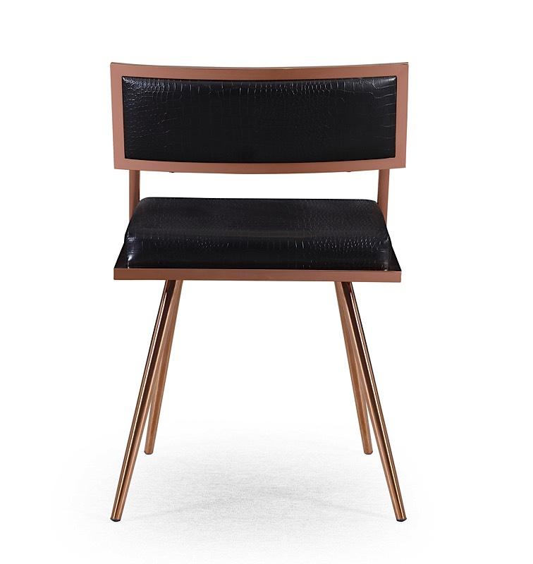 Marquee Arm Chair Black Croc Modern Digs Furniture