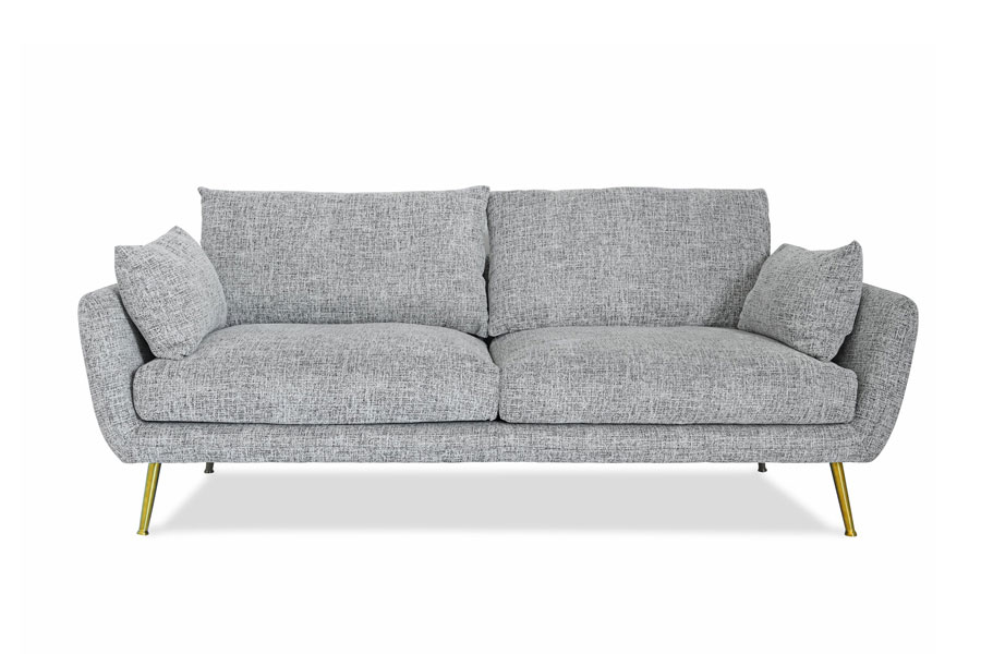 Adelita Sofa Gray | Gold