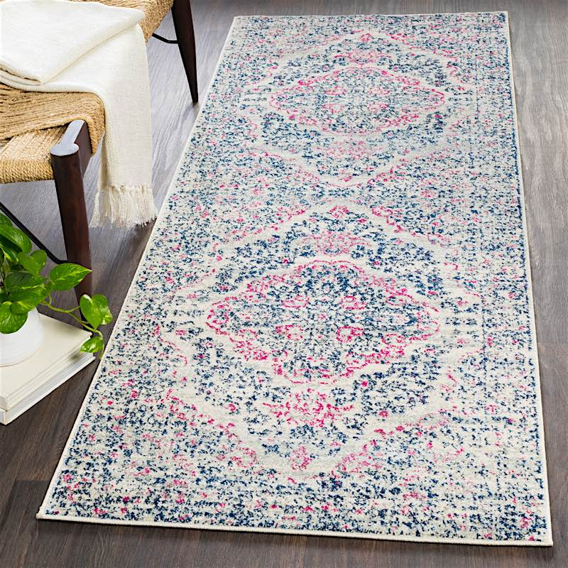 Lynn Pink And Blue Bohemian Rug Modern Digs