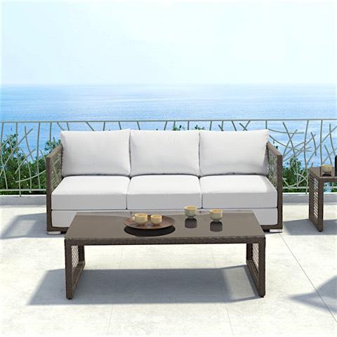 Go Brown Wicker Outdoor Sofa