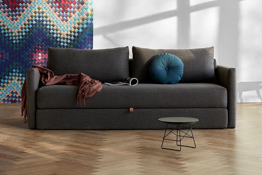 Tripi Sleek Sofa Kenya Dark Taupe   Modern Digs Furniture