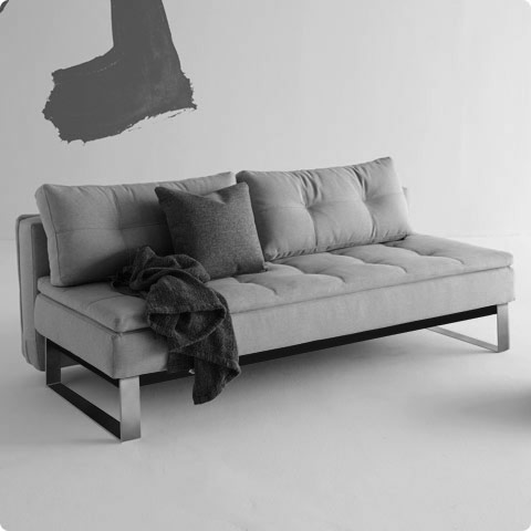 Dual Sofa Custom Fabric | Chrome