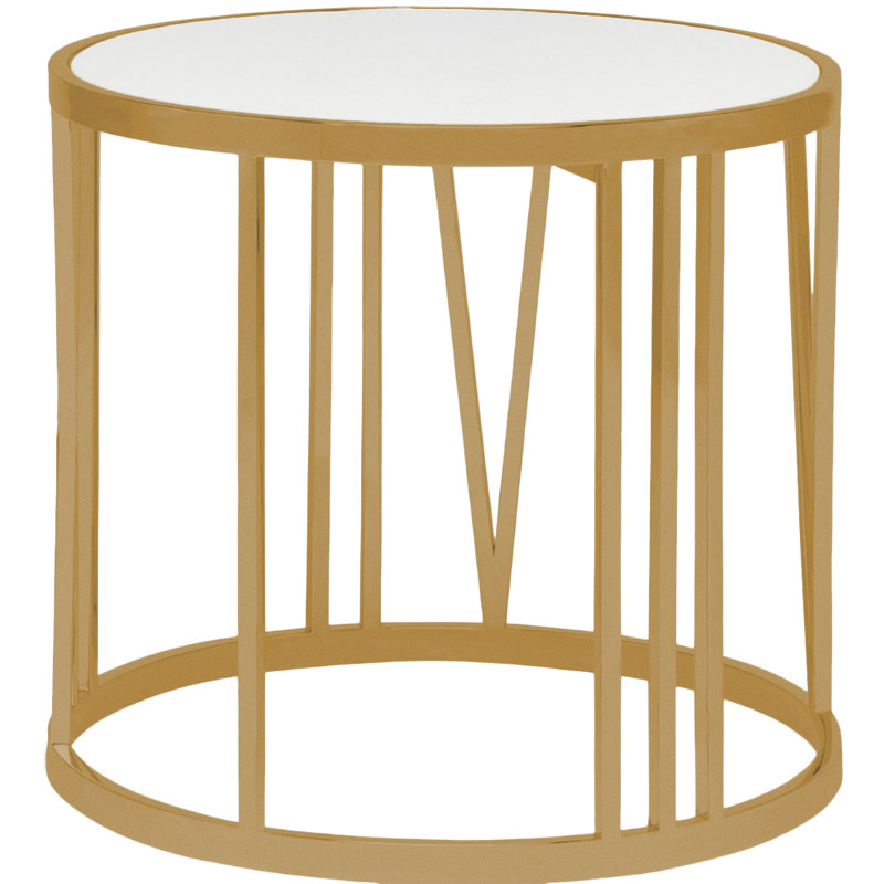 Roman Side Table Brushed Gold Modern Digs Furniture - Brushed gold side table