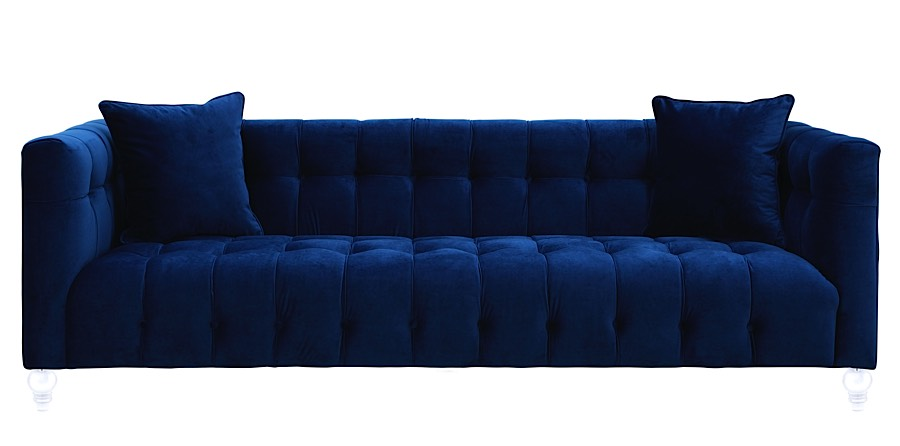 Amazing Bea Sofa   Navy Blue Velvet