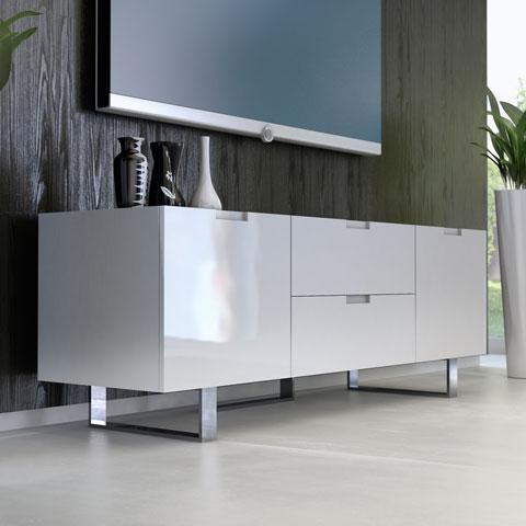 Eldridge Media Cabinet White Modern Digs Furniture