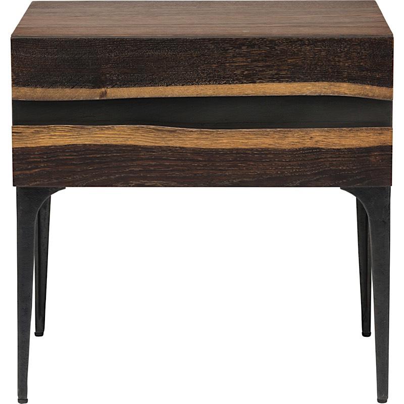 Attirant Prana Side Table   Seared Oak