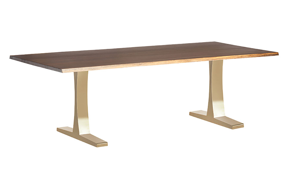Toulouse Gold Dining Table 78 Inch Modern Digs Furniture
