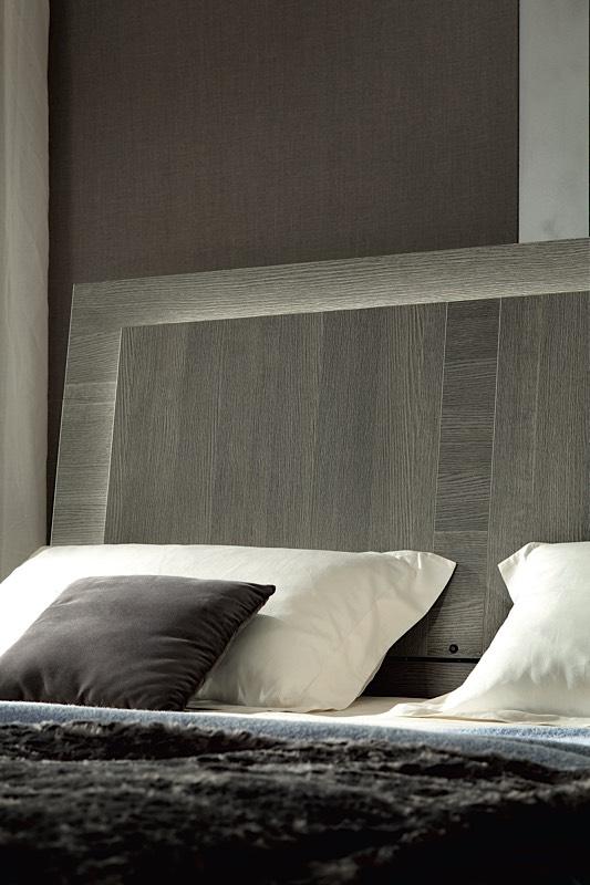 Tavenna Gray Oak Italian Platform Bed Modern Digs