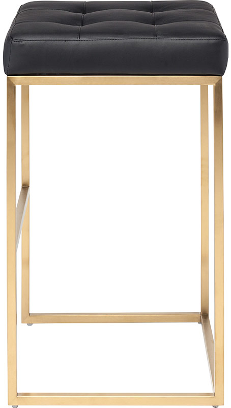 Chi Bar Stool By Nuevo Living In Black And Gold Steel