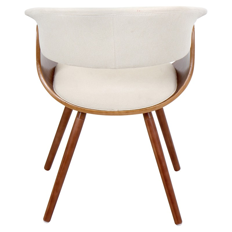 Marvelous Vintage Mod Chair   Walnut | Cream