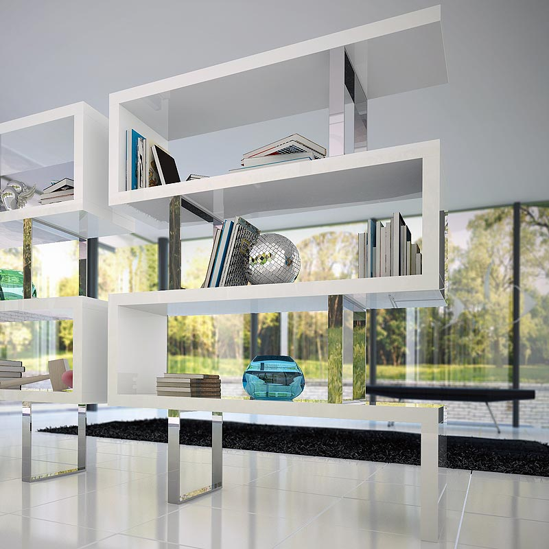 Pearl Bookcase By ModLoft In Sleek White
