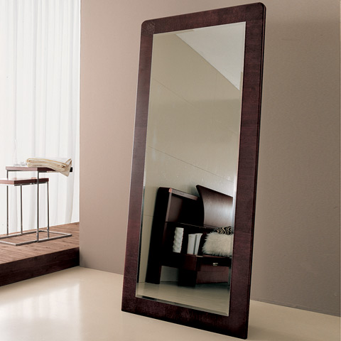 Wood floor length mirror floor mirrors modern for Wood floor length mirror