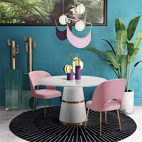 Tremendous Sara Dining Chair Light Pink Dailytribune Chair Design For Home Dailytribuneorg