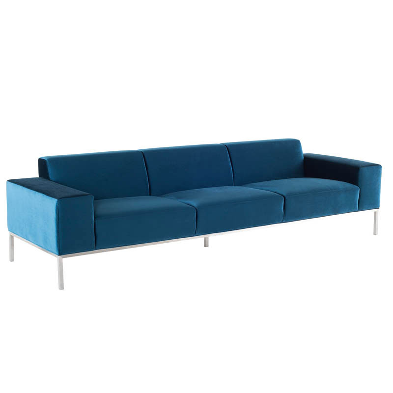 Bryce Minimalist Sofa Midnight Blue