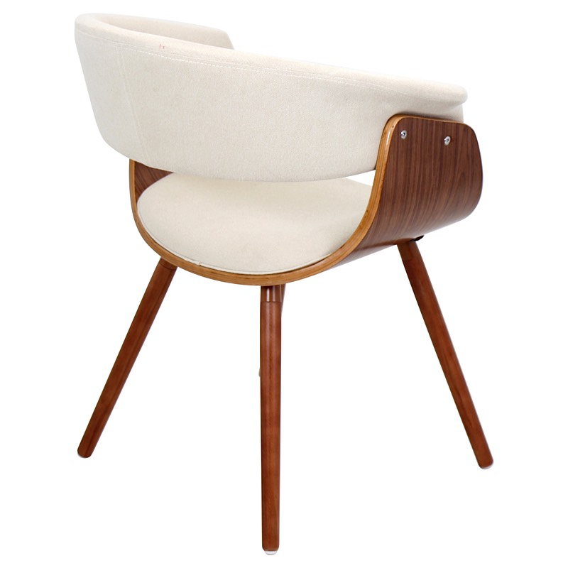 Merveilleux Vintage Mod Chair   Walnut | Cream