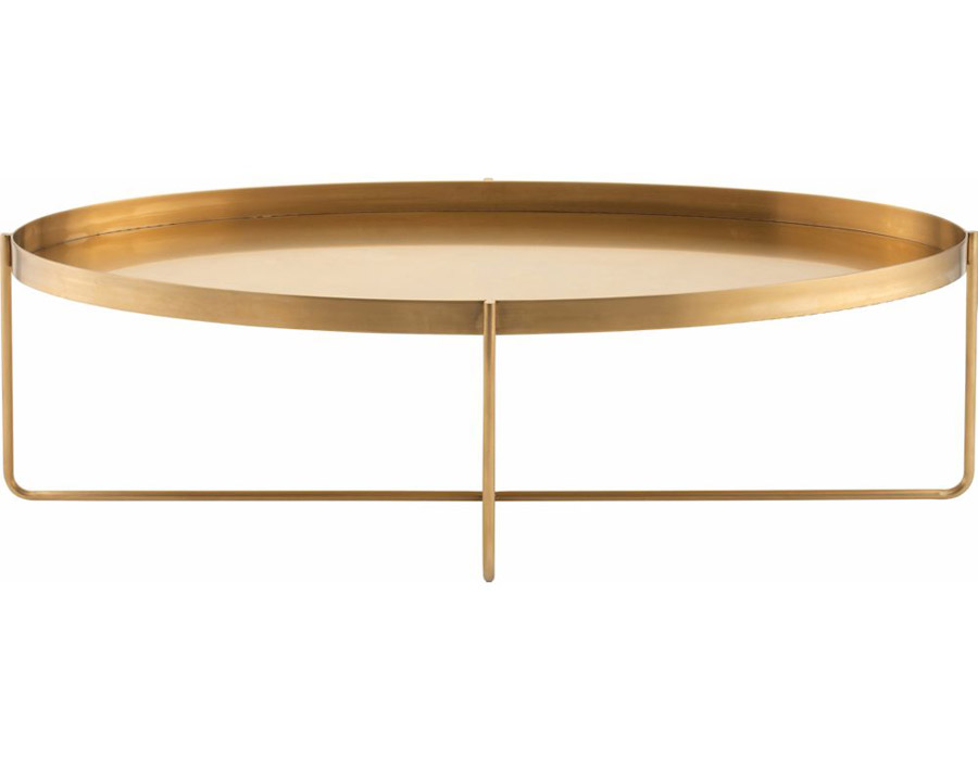 Gaultier Coffee Table Oval Gold Modern Digs Furniture