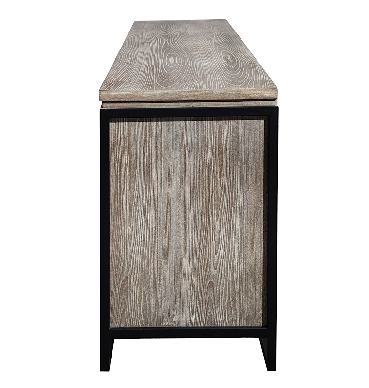 Westwood Elm Buffet Grey Brown Modern Digs Furniture