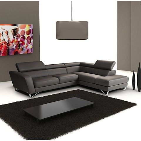 Leonidas Leather Sectional