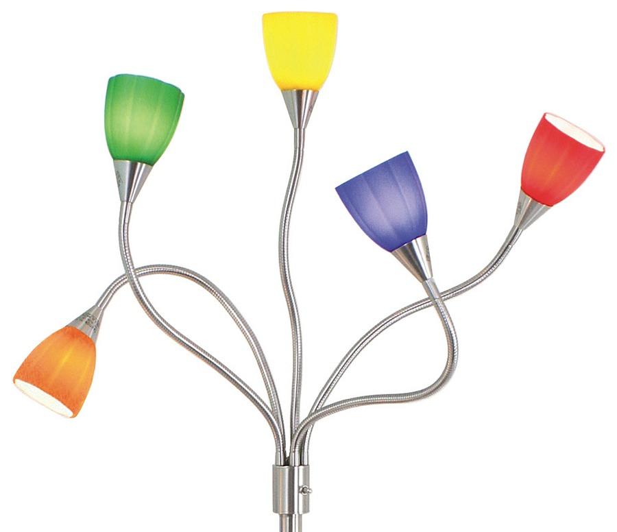 Multicolor Floor Lamp | Serpentine Lamp | Modern Digs