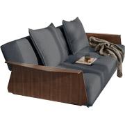 Long Horn Sofa with Arms